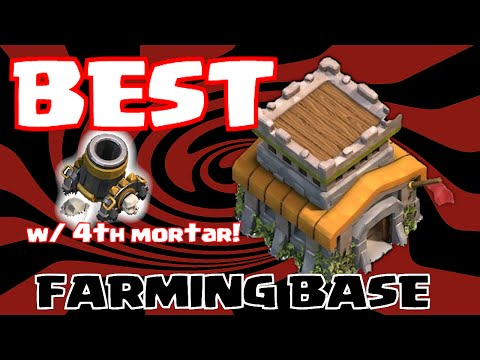 Clash of clans BEST TOWN HALL 8 FARMING BASE! (4th mortar Contest)