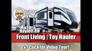 NEW MODEL! 2019 Keystone Fuzion 410 Fifth Wheel Toy Hauler