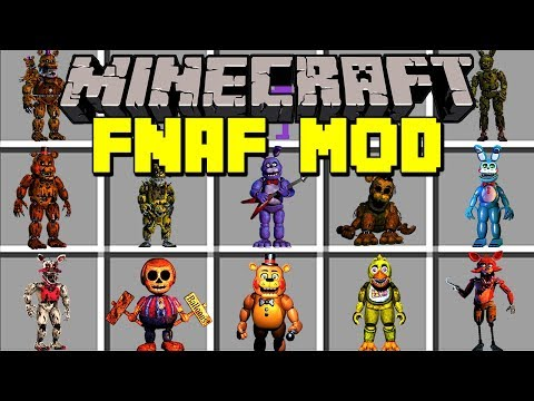 Minecraft FNAF MOD!  SURVIVE FIVE NIGHTS AT FREDDYS ANIMATRONICS!  Modded MiniGame