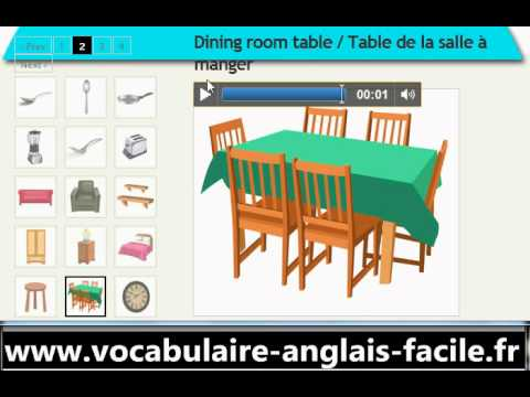 Vocabulaire anglais la maison vocabulaire anglais facile for Anglais vocabulaire maison