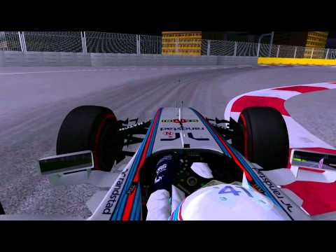 rFactor - F1 2014 - Susie Wolff - Onboard Singapore HD