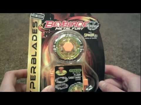 Beyblade Metal Fury Hyperblades (With SparkFX): Flash Sagittario 230WD Unboxing