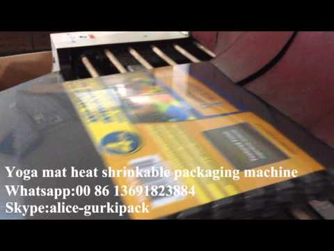 Yoga mat heat shrinkable packaging machine,Automatic heat tunnel shrink wrapping machine