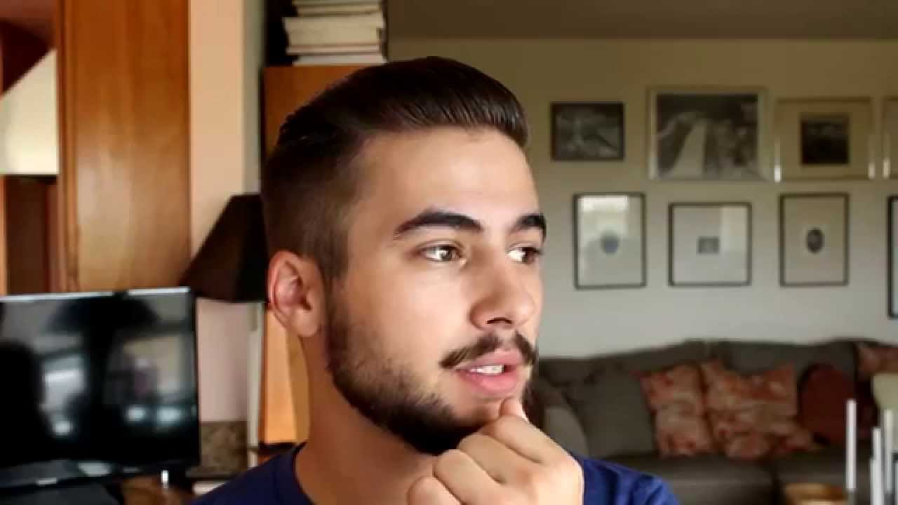 Modern male haircut
