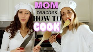 my MOM teaches me how to COOK TURKISH FOOD!