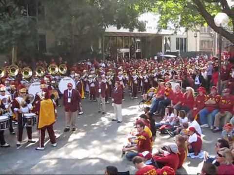 USC Trojan Marching Band | Pregame Rally (Beat the farm!)
