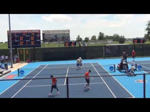 Virginia vs UCLA - Doubles Action - Breaks Everywhere