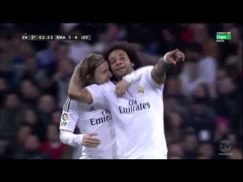 real madrid bs levante all goal and skills.