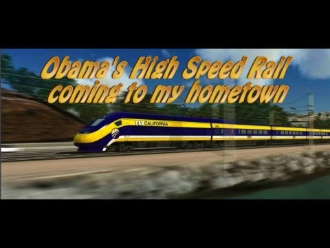 Obama High Speed Rail comes to my hometown.