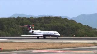 IBEX Airlines CRJ-702(JA07RJ) Takeoff at Hiroshima Airport
