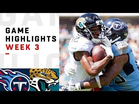 Titans vs. Jaguars Week 3 Highlights | NFL 2018