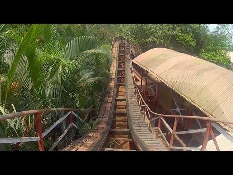 Zipper Dipper POV Wooden Roller Coaster EsselWorld Mumbai India