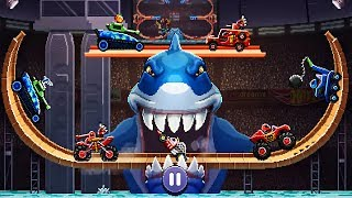 Drive Ahead! Battle Shark Hot Wheels - DRIVE AHEAD NEW Track Gameplay Video For KIDS