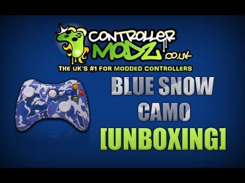 Blue Snow Camo - Custom Xbox 360 Controller [Review] - www.controllermodz.co.uk