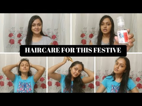 Haircare Routine For Frizzy Hair, Dry Rough Hair || Haircare For This Festive Season