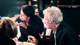 Clint Eastwood dining at the Mission Ranch restaurant/Carmel/CA