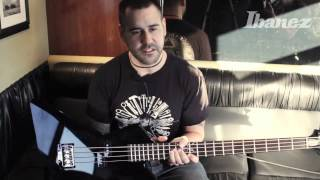 Mike D'Antonio of Killwitch Engage talking about his new Ibanez signature bass MDB3