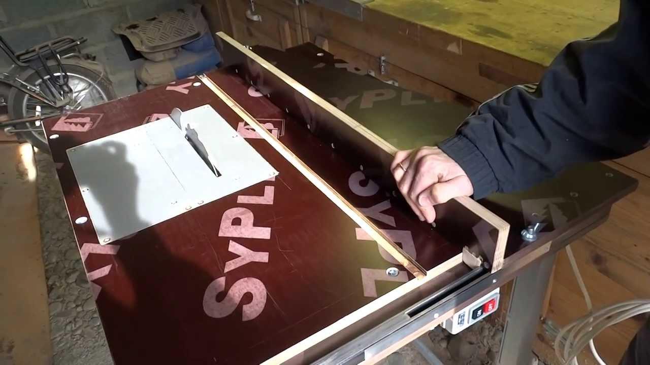 Универсальный стол для фрезера и циркулярКак сделать