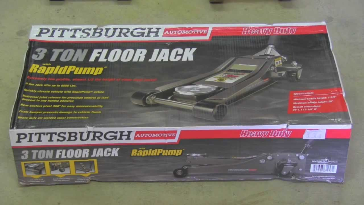 3 ton floor jack pittsburgh harbor freight youtube for Floor 2 pittsburgh