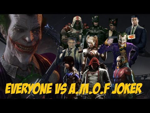 CHAR SWAPS; Batman; Arkham Knight; Everyone Vs A.M.O.F Joker