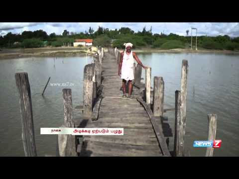 35-year-old wooden bridge needs immediate replacement in Vedaranyam
