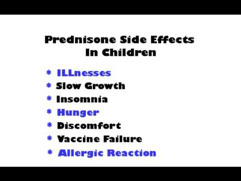 Prednisone side effects children