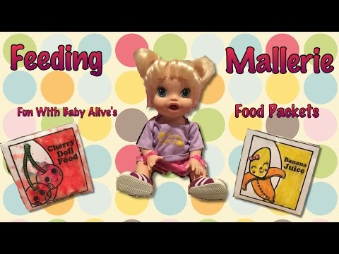 Feeding Mallerie Fun With Baby Alive's Food Packets