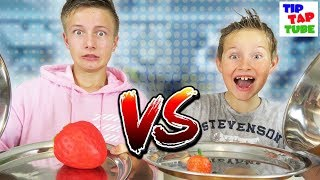 🍦 REAL FOOD vs. XXL SQUISHY FOOD 🍩 Challenge + Bestrafung 🚿 TipTapTube 😎