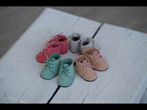 Ботиночки для куклы. Мастер-класс