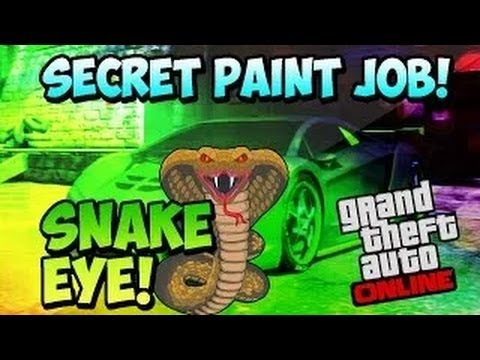 "GTA 5 Online - NEW ""SNAKE EYE"" - ""SCALEY PAINT JOB"" Paint color for GTA 5 ""GTA 5 Rare Paint Colors"""