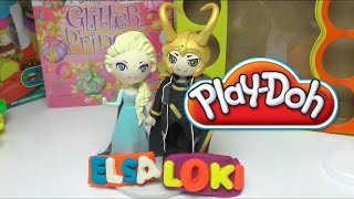 Frozen Princess Elsa & Loki Play Doh Fun Numbers, Letter