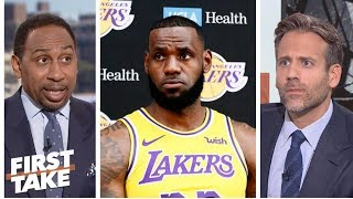 Stephen A. not sold on LeBron being the Lakers' closer | First Take | ESPN
