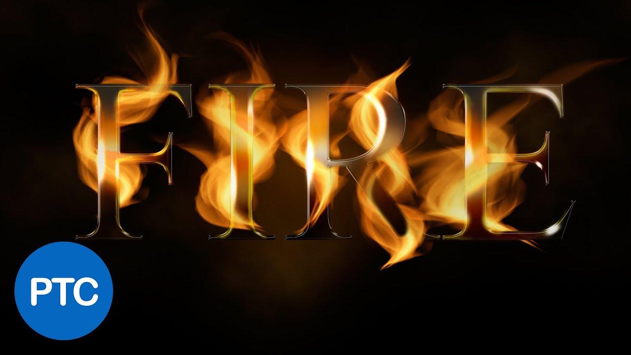 Как сделать вшопе эффект огненные буквы