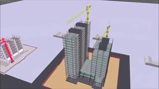 Construction Sequence Simulation For High Rise Steel Structure Using Navisworks 2018