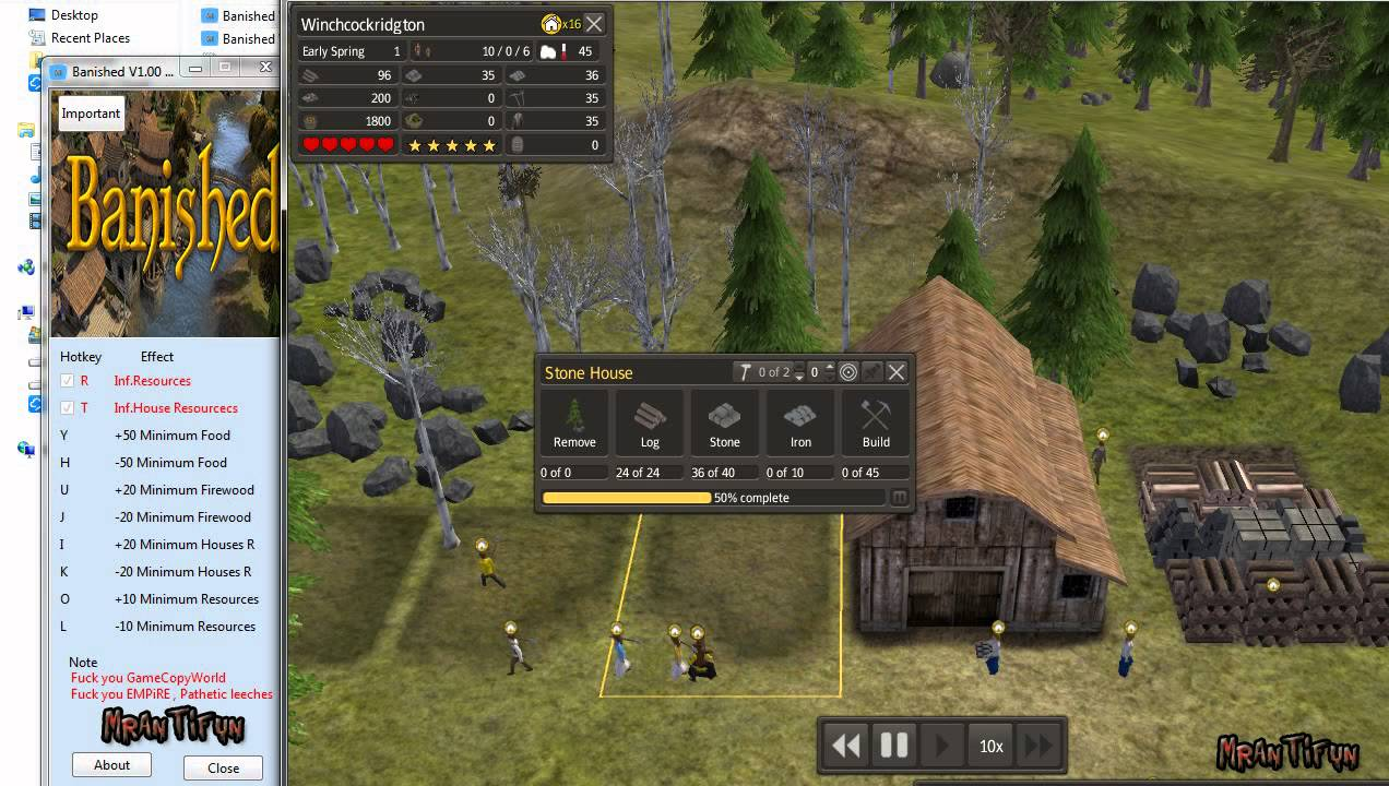 Banished V1.00 64bit-32Bit Trainer +6 Final - YouTube