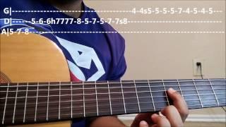 Neele Neele Ambar Par | 1st Guitar Lead/solo | Guitar Lesson|  PART- 2
