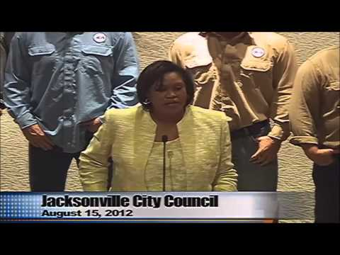 Jacksonville City Council Honors Lineworker Appreciation Day - Aug. 15, 2012