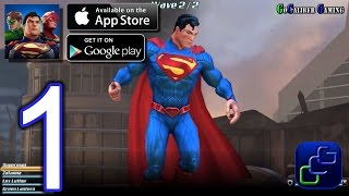 DC Comics Legends iOS Walkthrough - Gameplay Part 1 - Campaign 1 C1: Curse of the Black Lanterns