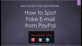 How to Expose Spoof Fake Paypal Email: Phishing Email