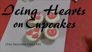 Icing Hearts on Cupcakes!  Chox Decorates #41