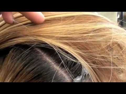 Color; LIFT dark roots with Haircolor
