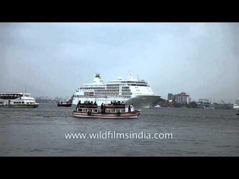 Massive Cruise ship arrives at Kochi port