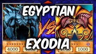 Yugioh EGYPTIAN GODS vs EXODIA (Yu-gi-oh God Card Deck Duel!)