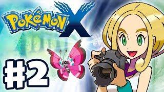 Pokemon X and Y - Gameplay Walkthrough Part 2 - Gym Leader Viola Battle (Nintendo 3DS)