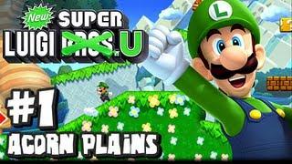 New Super Luigi U (2048p) - Part 1 - Acorn Plains