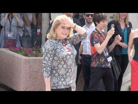 Cannes Film Festival 2015 - Photocall- Catherine Deneuve and the cast ofLa tête haute