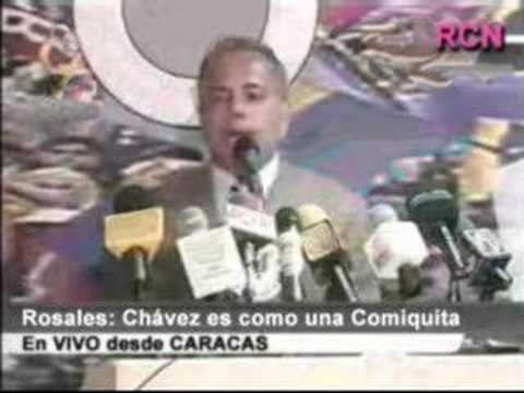 ROSALES compara a CHAVEZ con una comiquita de TV