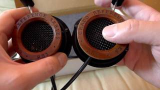 Grado RS1i headphones unboxing