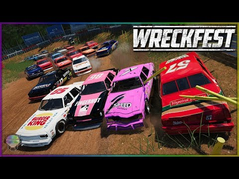 AWESOME ROAD COURSE CARNAGE! | Wreckfest