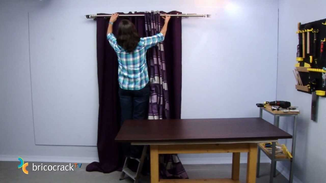 Colgar barras de cortinas bricocracktv youtube - Como colgar una manta en la pared ...